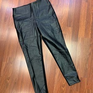 Faux Leather leggings with fabric back